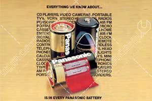 تبلیغ باتری های پاناسونیک