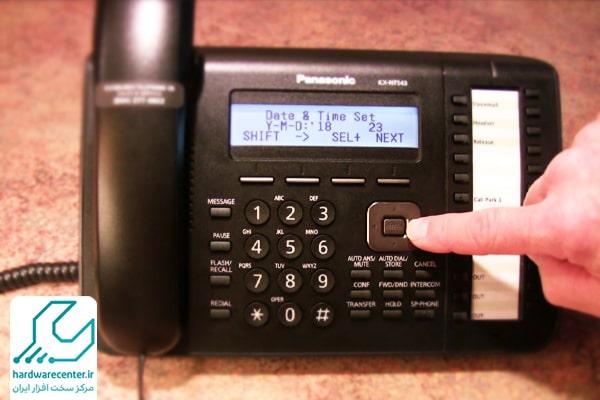 تنظیم منشی تلفنی پاناسونیک